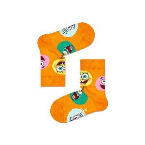 ハッピーソックス【Limited】Happy Socks × Sponge Bob ( スポンジ・ボブ ) CIRCLE OF FRIENDS ( サークル オブ フレンズ )子供 クルー丈 ソックス 靴下 KIDS ジュニア キッズ 12213012