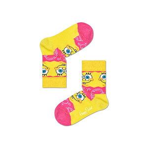 ハッピーソックス【Limited】Happy Socks × Sponge Bob ( スポンジ・ボブ ) SAY CHEESE BURGER ( セイ・チーズバーガー )子供 クルー丈 ソックス 靴下 KIDS ジュニア キッズ 12213013
