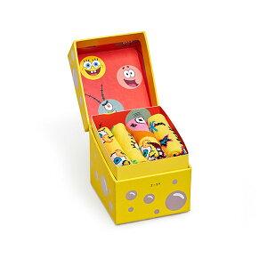 Happy Socks ハッピーソックス【Limited】Happy Socks × Sponge Bob ( スポンジ・ボブ ) GIFT BOX 4足組 ギフトセット クルー丈 ソックス 靴下KIDS ジュニア キッズ 子供 綿混 靴下 プレゼント 贈答 ギフト122430