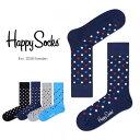 Happy Socks ハッピーソックスESSENTIALS-DOT ( エッセンシャルズ ドット )クルー丈 綿混 ソックス 靴下ユニセック…