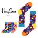 【Super Sale限定50%OFF!】Happy Socks ハッピーソックスBIG DOT ( ビッグ ドット ) クルー丈 綿混 ソックス 靴下ユニセックス メンズ & レディスプレゼント 贈答 ギフトh605082