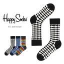 【送料無料+ポイント20倍】Happy Socks ハッピーソックスDIRECTION ( ディレクション )クルー丈 綿混 ソックス 靴下…