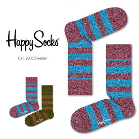 セール!50%OFFHappy Socks ハッピーソックスWOOL STRIPE ( ウールストライプ ) クルー丈 綿混 ソックス 靴下ユニセックス メンズ & レディスプレゼント 贈答 ギフトh605112ポイント10倍