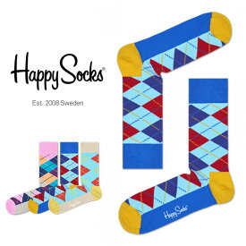 セール!50%OFFHappy Socks ハッピーソックスARGYLE ( アーガイル ) クルー丈 綿混 ソックス 靴下ユニセックス メンズ & レディスプレゼント 贈答 ギフトh605118ポイント10倍