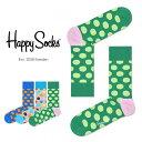 Happy Socks ハッピーソックスBIG DOT ( ビッグ ドット ) クルー丈 綿混 ソックス 靴下ユニセックス メンズ & レデ…