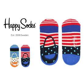 セール!50%OFFHappy Socks ハッピーソックスSTRIPE & DOT ( ストライプ & ドット ) フットカバー かかと滑り止め付き 綿混 カバーソックス 靴下ユニセックス メンズ & レディスプレゼント 贈答 ギフトh605202ポイント10倍