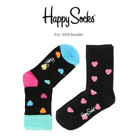 【ポイント20倍】Happy Socks ハッピーソックスHEART & HEART ( ハート&ハート ) 2足組 クルー丈 ソックス KIDS ジュニア キッズ 子供 綿混 靴下 h605719