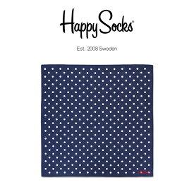 セール!Happy Socks ハッピーソックスDOT ( ドット )綿100% ブランド ハンカチ 48×48cmユニセックス メンズ & レディスプレゼント 贈答 ギフトh608714ポイント10倍