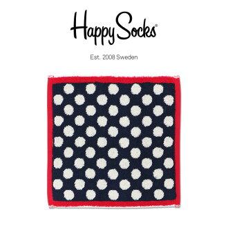 A sale! 50% OFF Happy Socks happy socks BIG DOT (big dot) towel brand handkerchief (mini-towel) 25*25cm unisex men & Lady's present gift-giving gift entrance to school celebration finding employment celebration h608905 point 10 times