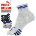 PUMA ( プーマ )足先にやさしい・つま先フラット仕様 フロントロゴ&サイドライン 3足組ショート丈 ソックス 4296-451 キッズ から ジュニア ( 子供用 )ポイント10倍