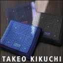 TAKEO KIKUCHI ( タケオ キクチ ) 無料 タケオ ブランド ラッピング OK千鳥×ドット柄 綿100% ハンカチ2432-123プレゼント 誕生日 ギフト 贈答品 お祝いポイント10倍