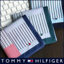 TOMMY HILFIGER|トミーヒルフィガー 無料 トミー ブランド ラッピング OKストライプチェック柄 綿100% ハンカチ2582-111プレゼント ...