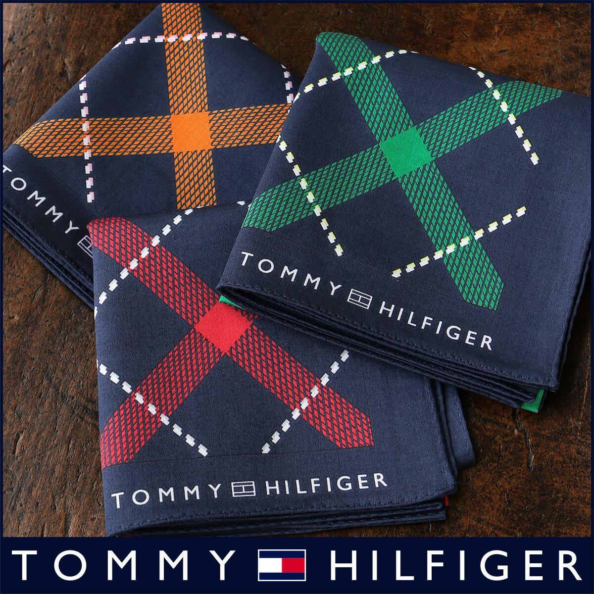 TOMMY HILFIGER|トミーヒルフィガー 無料 トミー ブランド ラッピング OKバイアスチェック柄 綿100% ハンカチ2582-116プレゼント 誕生日 ギフト 贈答品 お祝いポイント10倍