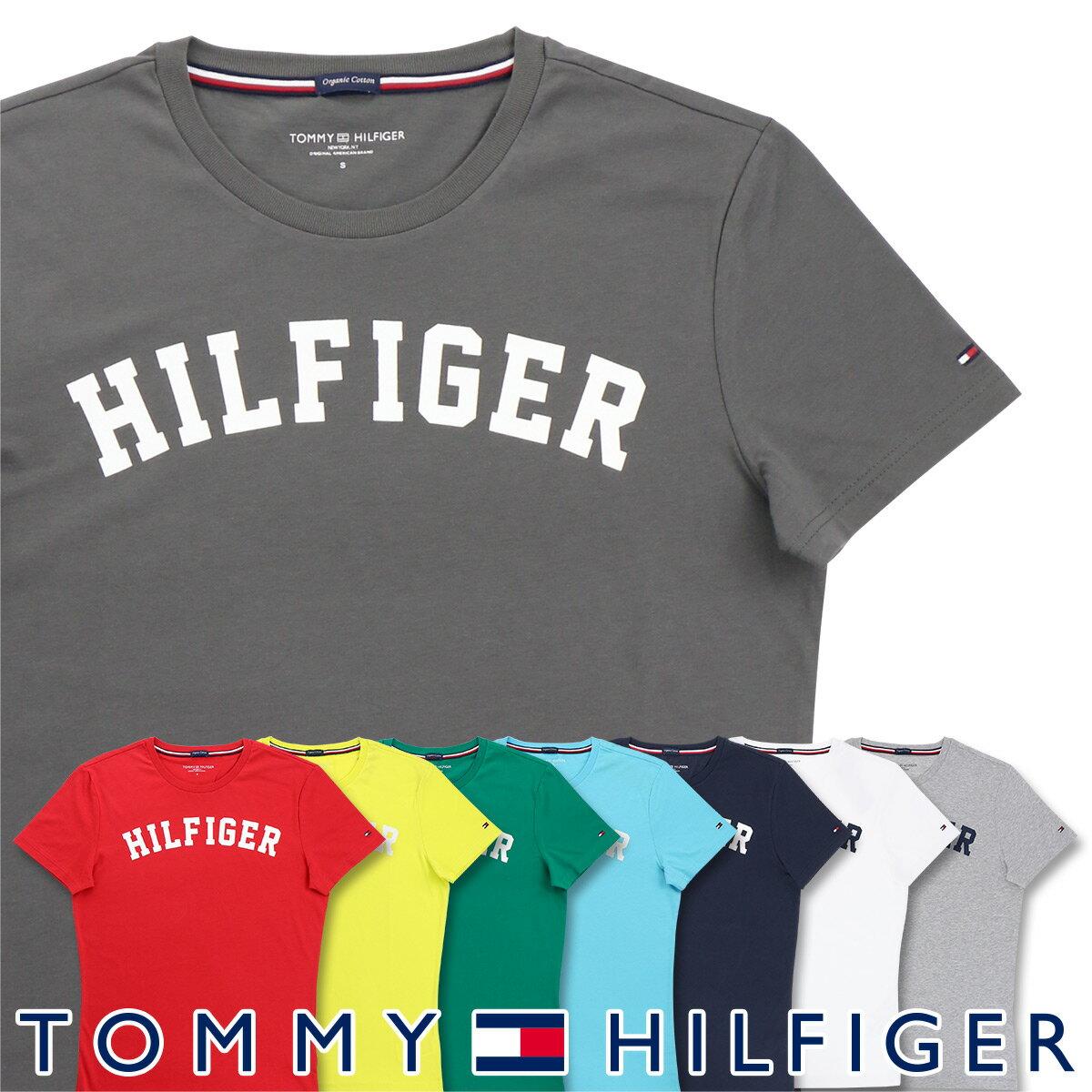 【郵送160円】セール!TOMMY HILFIGER|トミーヒルフィガークルーネック 半袖 ロゴ Tシャツ綿 オーガニックコットン 100%男性 メンズ プレゼント 贈答 ギフト5337-0054 バレンタイン プレゼント