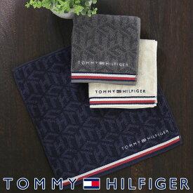 TOMMY HILFIGER トミーヒルフィガーポリジン加工 タオル ハンカチ(ミニタオル)リンクスTHロゴ プレゼント 贈答 ギフト02582157