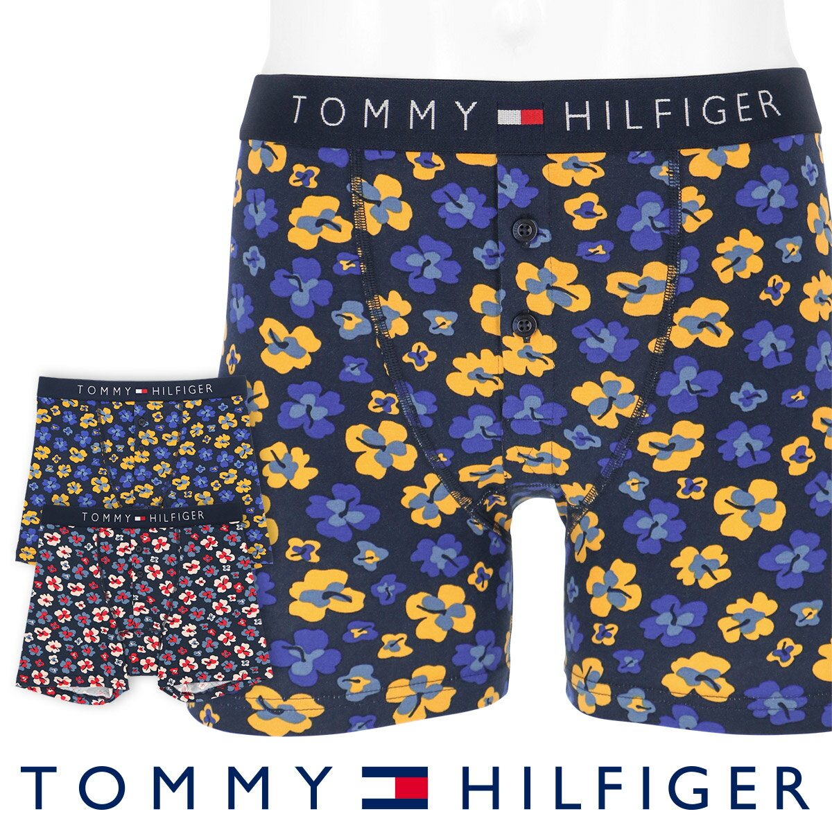 TOMMY HILFIGER|トミーヒルフィガーJAPAN LIMITED 日本限定COTTON ICON BUTTON FLY BOXER BRIEF FLORAL PRINTコットン アイコン フローラル プリント ボクサーパンツ5338-1048男性 メンズ プレゼント 贈答 ギフトポイント10倍