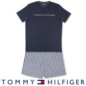 セール!51%OFFTOMMY HILFIGER|トミーヒルフィガーCOLOR BLOCK COTTON CN SS SHORT SETコットン100% ロゴ 半袖 ロゴ Tシャツ&ギンガムチェック ショートパンツセット (上下セット)男性 メンズ プレゼント 贈答 ギフト5339-1215