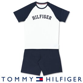 TOMMY HILFIGER トミーヒルフィガーCOLOR BLOCK COTTON CN SHORT SET HILFIGERコットン100% ロゴ 半袖 Tシャツ&ショートパンツセット (上下セット)男性 メンズ プレゼント 贈答 ギフト5339-1431