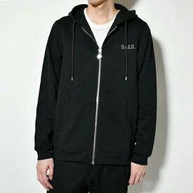 BALR ボーラー B10009 Q-Series straight zip thru hoodie BLACK フルジップ ロゴパーカー/Q-SERIES ZIPPED HOODIE