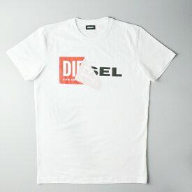 DIESEL ディーゼル 半袖Tシャツ T-DIEGO-QA S02X 0091B 100/ホワイト メンズ ロゴT カットソー ブランド カジュアル ペアルック プリント プレゼント ギフト 送料無料 小さいサイズ 大きいサイズ