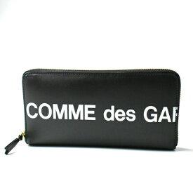 COMME des GARCONS コムデギャルソン レザー ラウンドファスナー長財布 SA0110HL BLACK/ブラック HUGE LOGO ヒュージロゴ ロングウォレット/ メンズ/レディース/ユニセックス