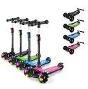 Besrey キッズ スクーター キックボード 三輪車 子供用 幼児用 3輪 3in1 3階段調節可能 キッズ 後輪ブレーキ 高さ調整…