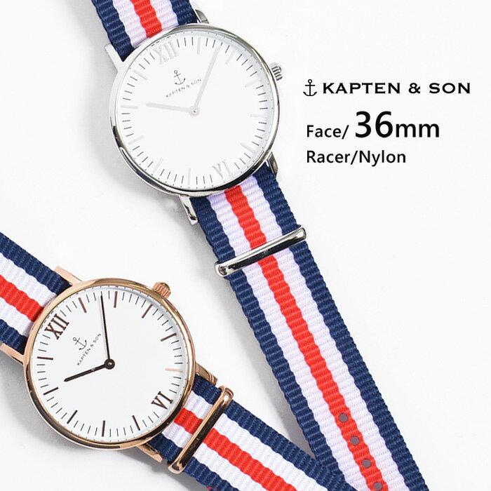 キャプテン&サン KAPTEN&SON 腕時計 ウォッチ 36mm Racer レーサー レディース メンズ ユニセックス