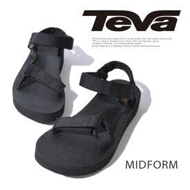 TEVA テバ MIDFORM UNIVERSAL ウィメンズ ミッドフォーム レディース サンダル 1090969 スポーツサンダル コンフォートサンダル 靴 ブラック 黒 可愛い おしゃれ ブランド アウトドア レジャー 大人 カジュアル スポーティ ストラップ 春 夏