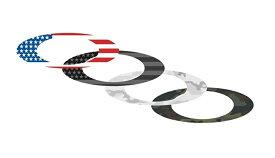 [国内正規商品] OAKLEY / オークリー /ステッカー /Flat Logo Sticker Pack Small / USA Flag/Camo 内容 [約2.7cm x約7.6cm]×4枚 211-006-001