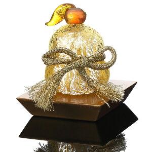 ガラスの鏡餅 お正月飾り 黄金餅 金塗台付手作りガラス細工 野口硝子 FUSION FACTORY FF-300-34 オブジェ ギフト snos300-34 送料無料 あす楽 Gold rice cake