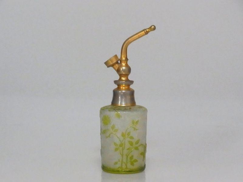 オールド バカラ 香水瓶 ● エグランチエ アトマイザー 黄緑 アンティーク Eglantier