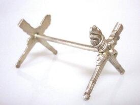 クリストフル ナイフレスト ● トーチ 矢筒 リボン リュバン 箸置き たいまつ シルバー 銀 希少
