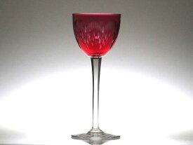 オールドバカラ グラス ● モリエール 被せガラス レッド 赤 ホックワイン ラインワイン グラス レーマー Moliere