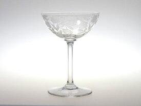 オールド バカラ シャンパン グラス ● シュバリエ ローズ フォントネー シャンパンクープ ロングステム バラ 薔薇 Fontenay Rose