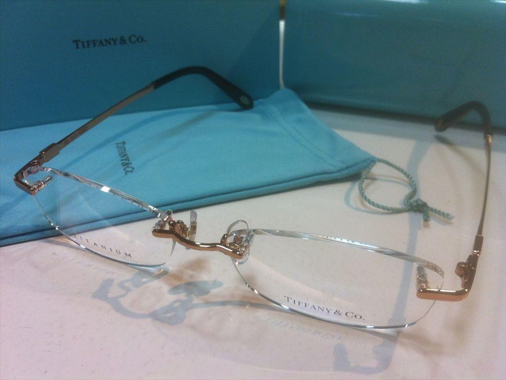 TIFFANY&CO.(ティファニー)TF1128TD 6105(ピンクゴールド) 53サイズメガネフレーム(ツーポイントフレーム)縁なしメガネ高品質日本製メガネフレーム有名ブランドメガネフレーム