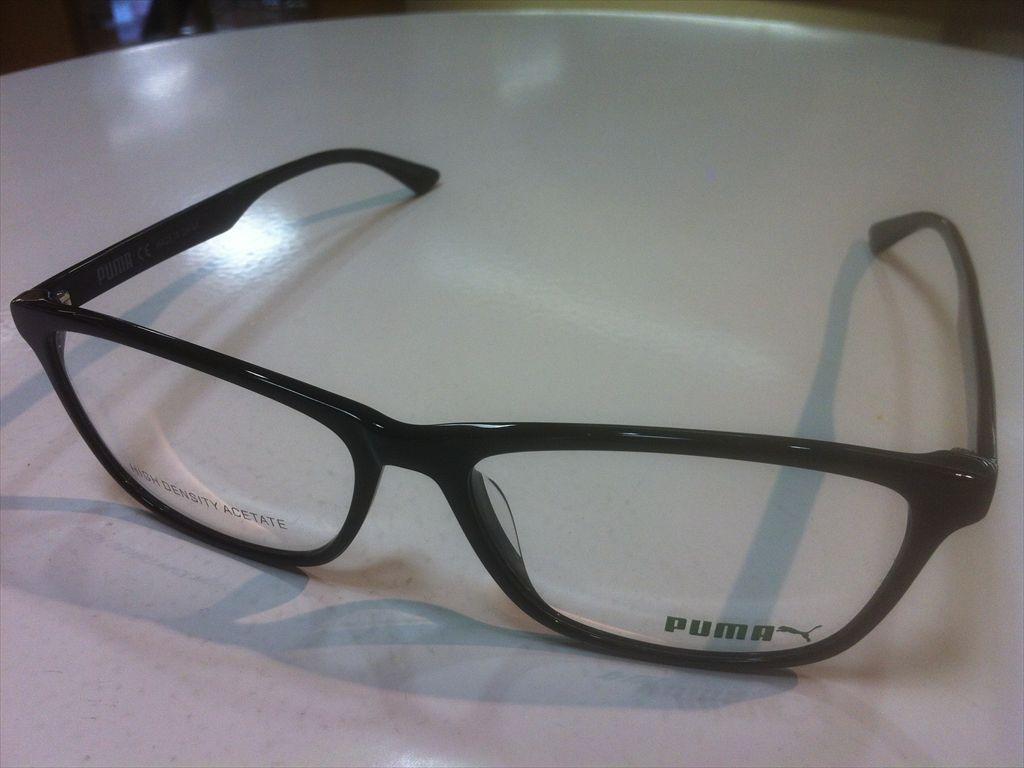 PUMA(プーマ)PU0149O 007(ブラック) 56サイズメガネフレーム(セルフレーム)有名ブランドメガネフレーム