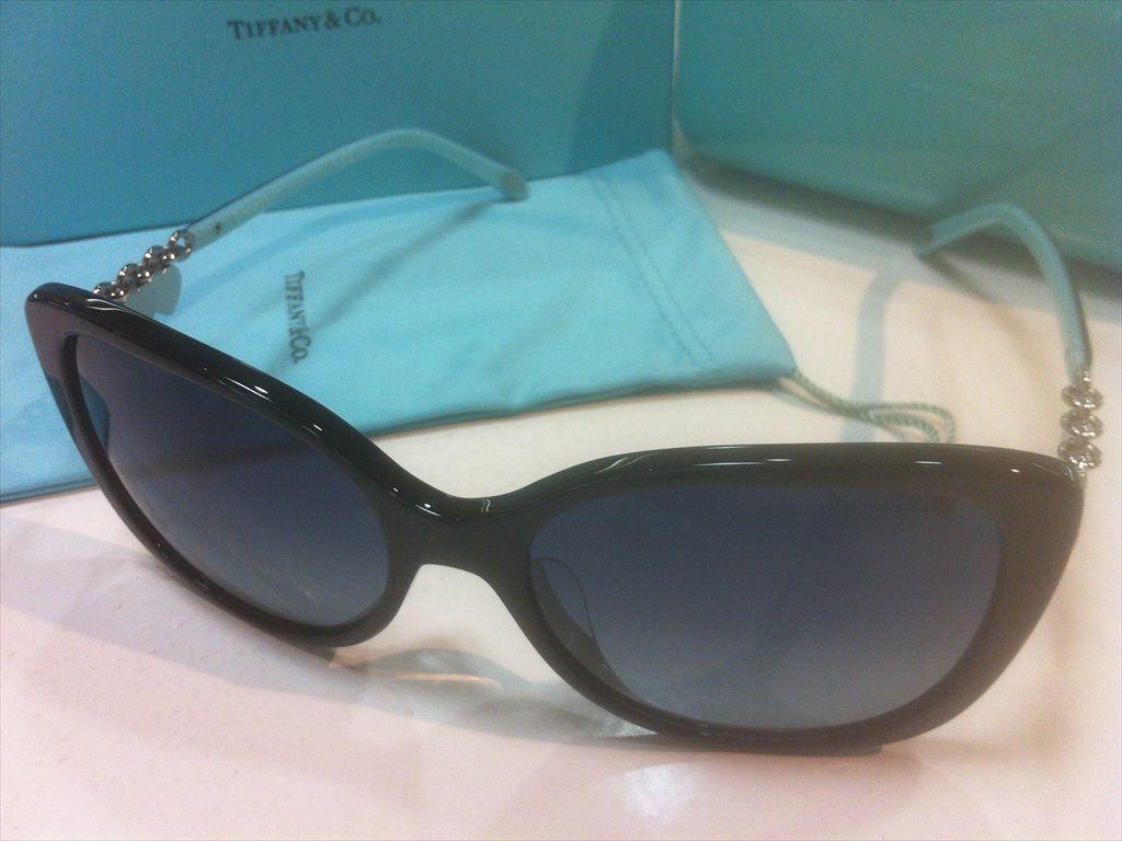 TIFFANY&CO.(ティファニー)TF4129-F 8001/4U(ブラック/シルバー/ティファニーブルー)56サイズサングラス(セルフレーム(コンビネーション))有名ブランドサングラス