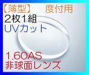 【店内全品ポイント5倍 6/1 09:59まで】【オプション用・加工料金込み】1.60非球面タイプ FRESHコート付き UVカット付き 中屈折薄型レンズ