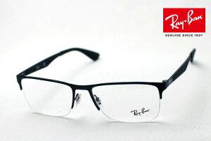 正規レイバン日本最大級の品揃え レイバン メガネ フレーム Ray-Ban RX6335 2503 伊達メガネ 度付き ブルーライト カット 眼鏡 メタル 黒縁 RayBan ハーフリム ブラック系