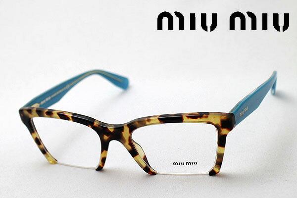 今夜23時59分終了 ほぼ全品がポイント15〜20倍+3倍 【ミュウミュウ メガネ 正規販売店】 miumiu MU04NV 7SO1O1 伊達メガネ 度付き ブルーライト ブルーライトカット 眼鏡 miumiu NewModel Made In Italy スクエア