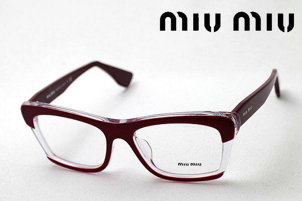 今夜23時59分終了 ほぼ全品がポイント15〜20倍+3倍 【ミュウミュウ メガネ 正規販売店】 miumiu MU08MVA DHH1O1 伊達メガネ 度付き ブルーライト ブルーライトカット 眼鏡 miumiu NewModel Made In Italy スクエア