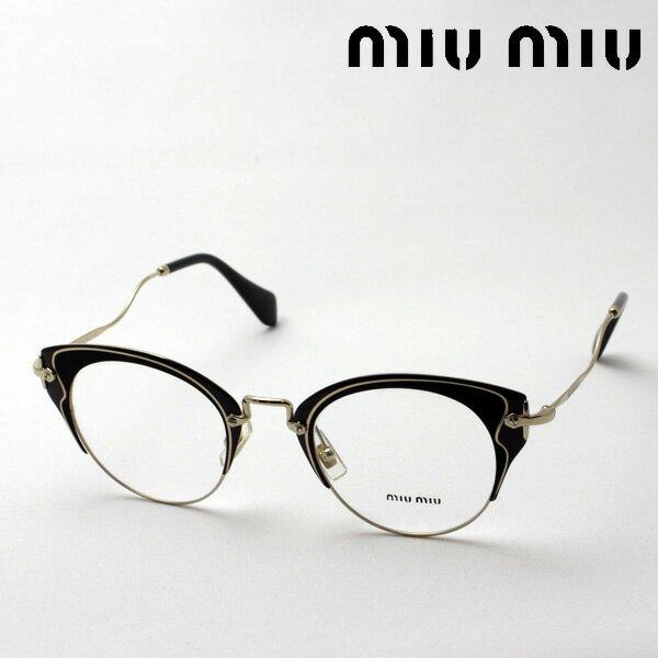 【miumiu】 ミュウミュウ メガネ MU52PV 1AB1O1 伊達メガネ 度付き ブルーライト ブルーライトカット 眼鏡 miumiu フォックス
