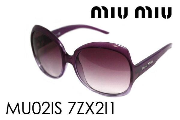【miumiu】 ミュウミュウ サングラス MU02IS 7ZX2I1 レディース ケースなし シェイプ