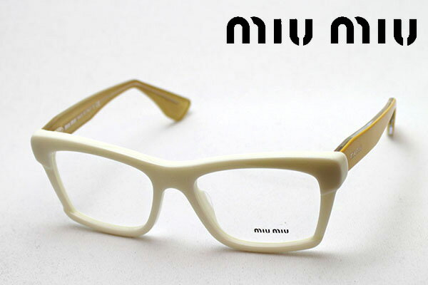 1月20日(日)午前9時59分終了 ほぼ全品ポイント15倍 【ミュウミュウ メガネ 正規販売店】 miumiu MU08MV 7S31O1 伊達メガネ 度付き ブルーライト カット 眼鏡 miumiu スクエア