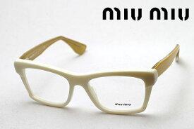 明日の夜終了 ポイント10倍+2倍 8月9日(日)午前1時59分まで 【ミュウミュウ メガネ 正規販売店】 miumiu MU08MV 7S31O1 伊達メガネ 度付き ブルーライト カット 眼鏡 miumiu スクエア