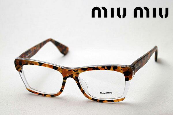3月25日(月)今夜23時59分終了 ほぼ全品ポイント16倍+5倍 【ミュウミュウ メガネ 正規販売店】 miumiu MU08MVA DHF1O1 伊達メガネ 度付き ブルーライト カット 眼鏡 miumiu スクエア
