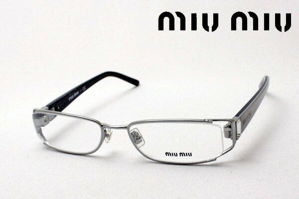 SALE特価 【miumiu】 ミュウミュウ メガネ MU53FV 5AV1O1 伊達メガネ 度付き ブルーライト ブルーライトカット 眼鏡 ケースなし