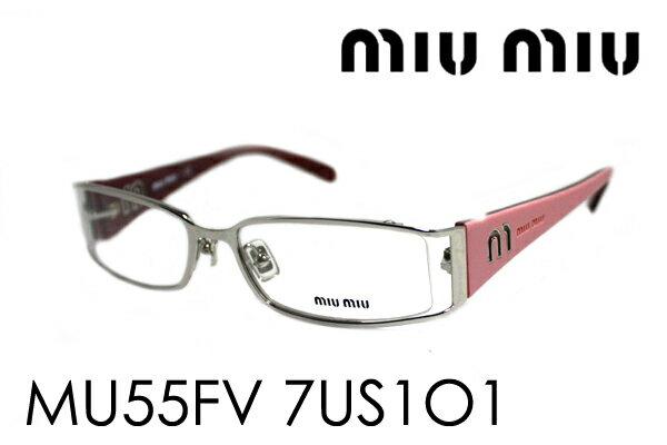 SALE特価 【miumiu】 ミュウミュウ メガネ MU55FV 7US1O1 伊達メガネ 度付き ブルーライト ブルーライトカット 眼鏡 miumiu ケースなし