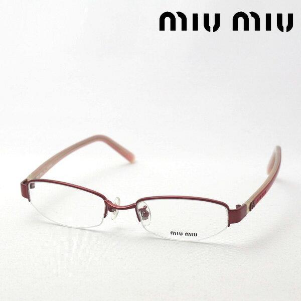 SALE特価 【miumiu】 ミュウミュウ メガネ MU71DV 8AZ1O1 伊達メガネ 度付き ブルーライト ブルーライトカット 眼鏡 miumiu ケースなし ハーフリム