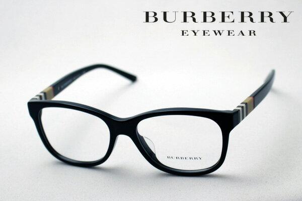【BURBERRY】 バーバリー メガネ BE2204F 3001 伊達メガネ 度付き ブルーライト ブルーライトカット 眼鏡 黒縁
